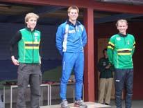 Medaljevinnerene; Lars Skjeset, meg og Øystein Pettersen