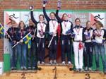 Pallen for jenter junior, men norsk gull og bronse
