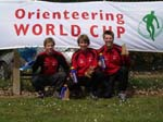 Sølv laget fra stafetten; Lars Skjeset, Stig Alvestad og meg