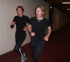 Stig Alvestad and Kristian Lullerud running on the track in Leangen