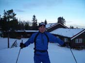 Me on skies outside Elgsethytta in Bymarka