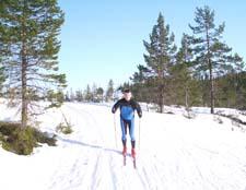Me skiing in Bymarka in Trondheim