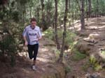 Stig Alvestad running in the nice forest