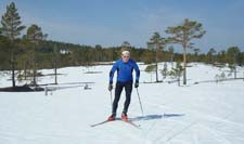 Me skiing from Saksvikvollen close to Trondheim last Saturday