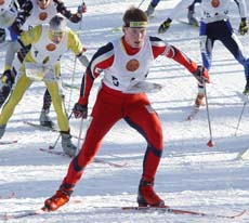 Me from the start at Ski-o WOC Relay 2004