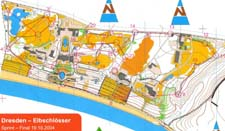 Map from WC-sprint in Dresden
