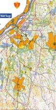Kart med veivalg