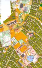 Map from WC-test in sprint in Sandnes spring 2005