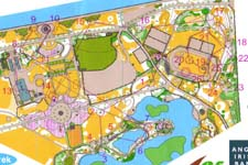 Kart fra sprint-finalen