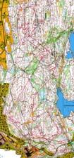 Kart med veivalg fra stafetten