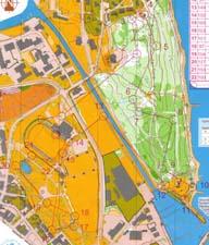 Map from NM Sprint 2006 in Horten