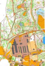 Map from sprint at O-festivalen