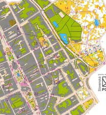 Map from sprint at WUOC 2006 in Slovakia