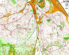 Map from relay at WUOC 2006 in Slovakia