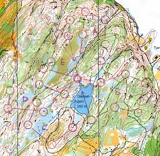 Map from One-man-relay on Reppes�sen in Trondheim