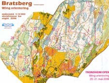 Map from Trondheim Open Sunday