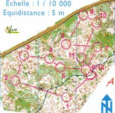 Map from training in Clermont-Ferrand