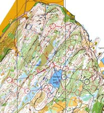 Map from one-man-relay at Reppes�sen