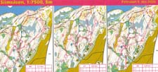 Map from one-man-relay at Siims�sen