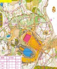 Map from Holmenkollen Grand Prix, loop 1