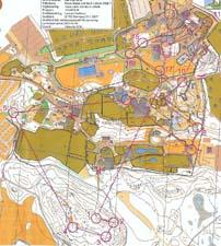 Map from Elitserien Sprint