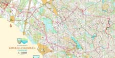 Map from Jukola with my GPS-tracking