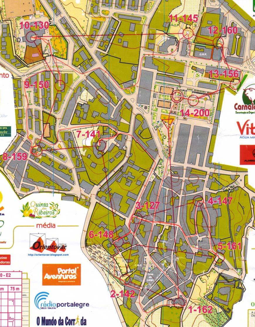 NAOM Sprint Crato Portugal - Crato map
