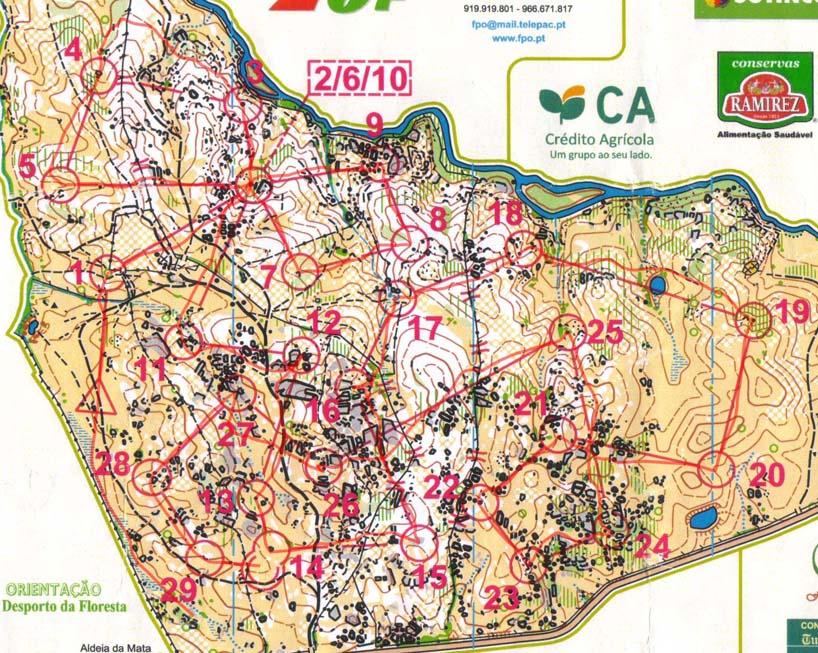 NAOM Middle Crato Portugal - Crato map