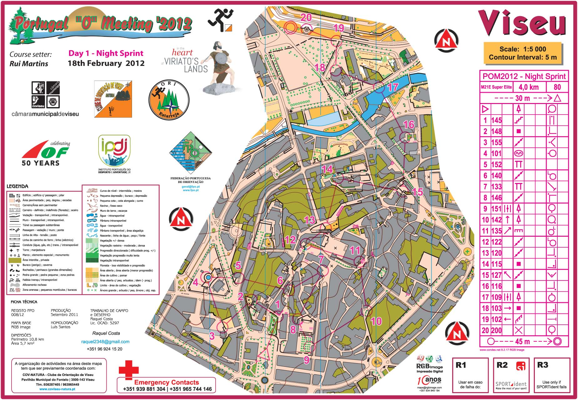 My Digital Orienteering Map Archive POM Night Sprint - Portugal map viseu