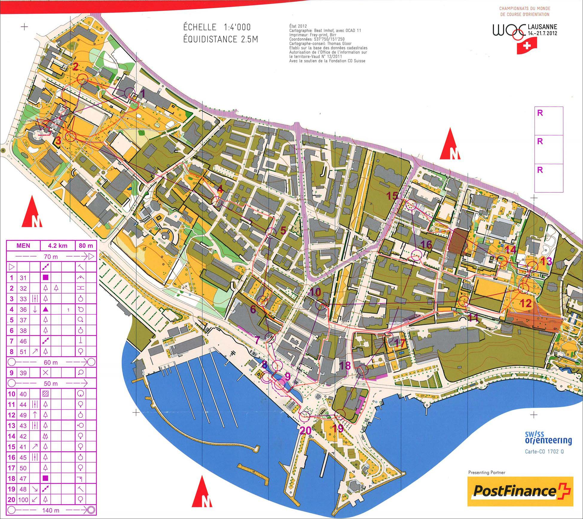 My digital orienteering map archive WOC Sprint Final 15072012