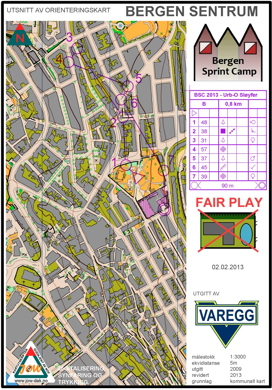 Bergen Sprint Camp 3, loop B (02/02/2013)