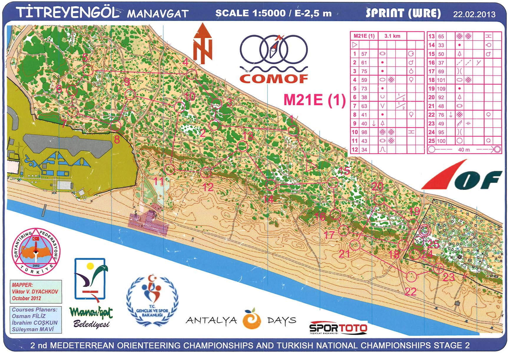 Antalya O-days 2 Sprint (22/02/2013)