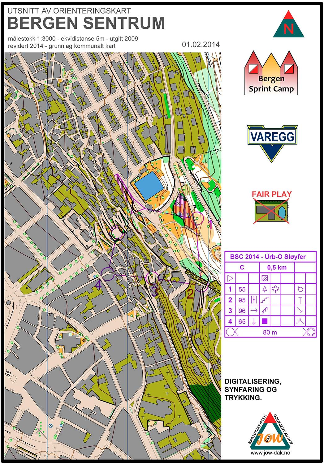 Bergen Sprint Camp 3 - Loop C (01/02/2014)