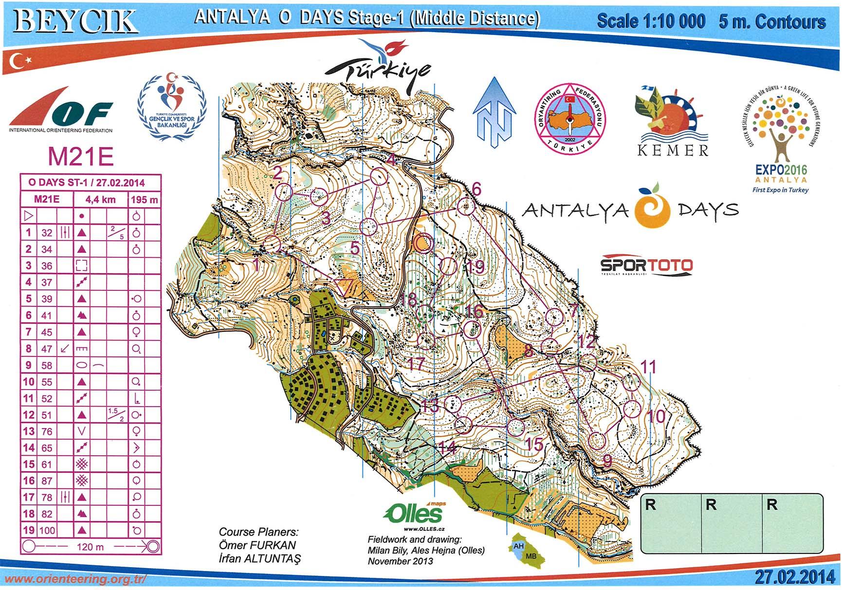 My digital orienteering map archive :: Antalya O-days 1 (27/02/2014)