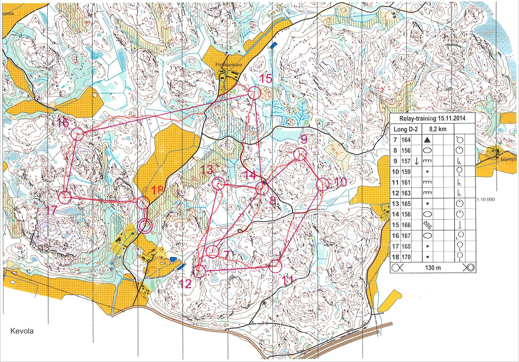 Jukola 2015 training, loop 2 (15/11/2014)
