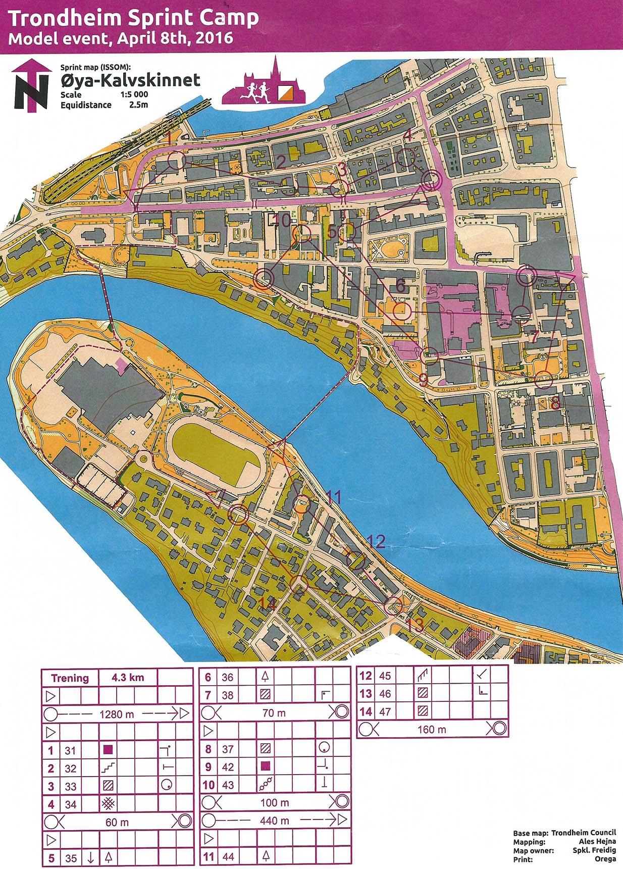 My digital orienteering map archive Trondheim Sprint Camp Model