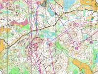 Map from Jukola